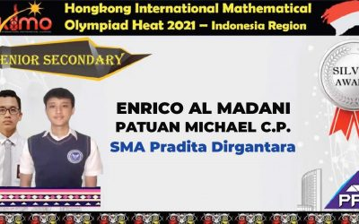 Enrico and Patuan Winning Silver Medal of Hong Kong International Mathematical Olympiad for Indonesia Region