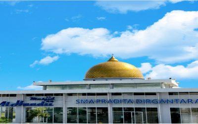The beauty of the Al Haadii Mosque at SMA Pradita Dirgantara