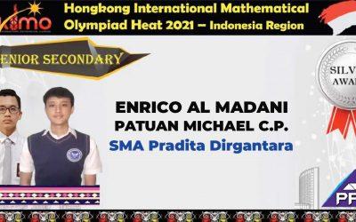 Enrico – Patuan Raih Medali Perak Hong Kong International Mathematical Olympiad